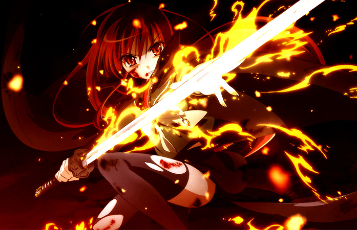 Shakugan no Shana with Nietono no Shana